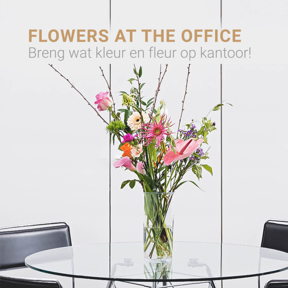 Flowers at the office
